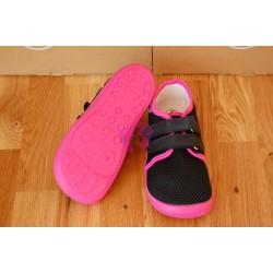 Beda barefoot Anette vycházková obuv na suchý zip, podrážka