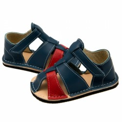 ZeaZoo Kids - Goby Blue and Red barefoot sandále
