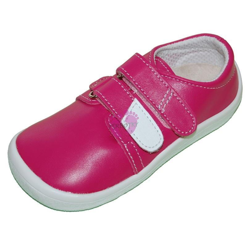 Beda barefoot kožená nízká obuv růžová