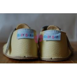 Baby Bare Shoes Canary - páskové sandále žluté