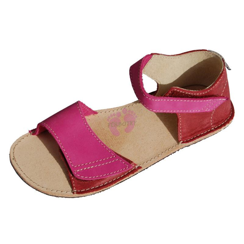 ORTOplus barefoot sandálky BF D203 (šíře G), růžové