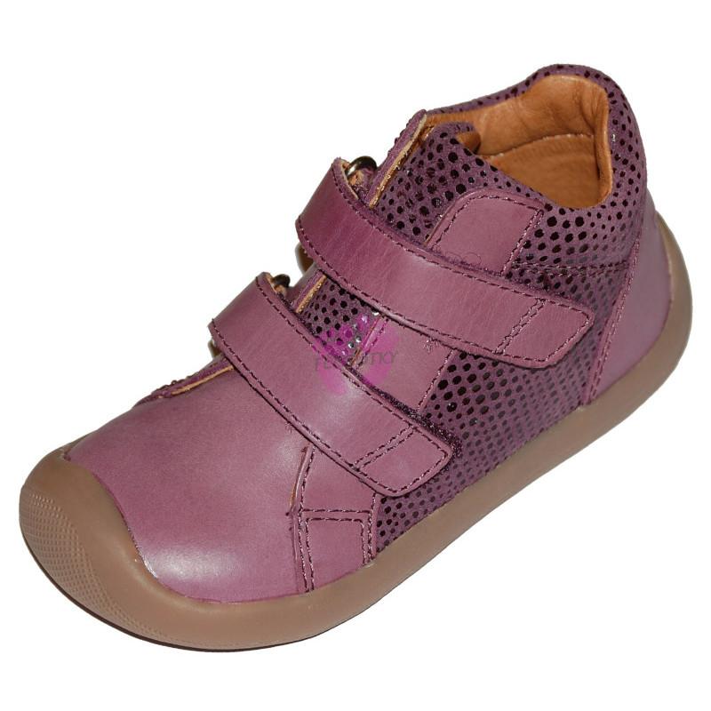 Bundgaard Walk Velcro Purple Glitter, na suchý zip