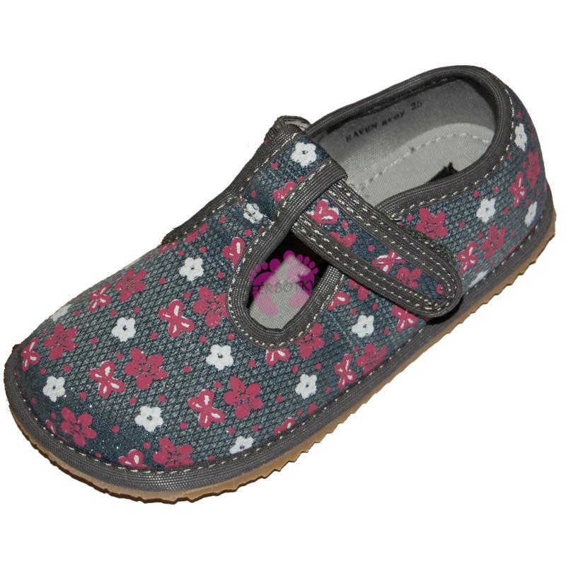 Protetika barefoot papučky Raven Grey