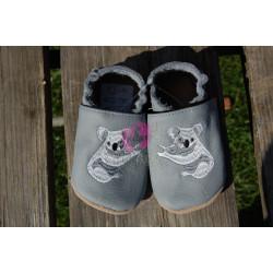 Barefoot baBice capáčky šedé s koalou