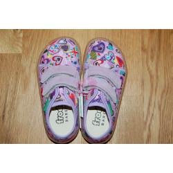 Froddo Barefoot tenisky - plátěné Lilac G1700283-2