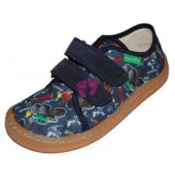 Froddo Barefoot tenisky - plátěné G1700302-8 BLUE+