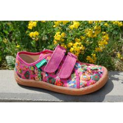 Froddo Barefoot tenisky - plátěné FUCHSIA G1700302-6