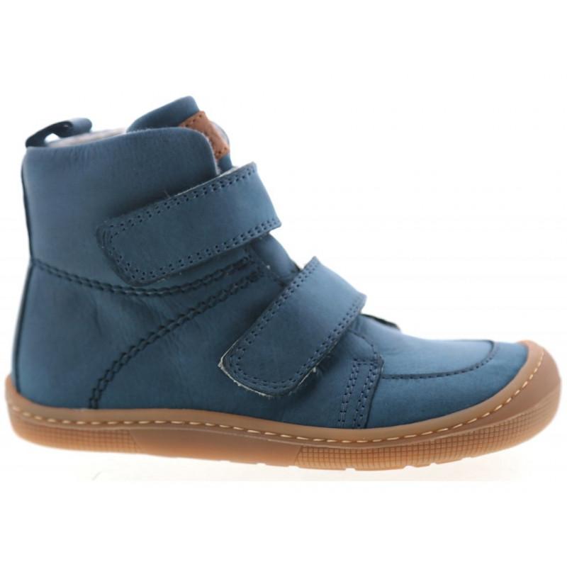 Juniorské zimní boty Barefoot Koel Hidro Warm - Turquoise, merino, (32-38)