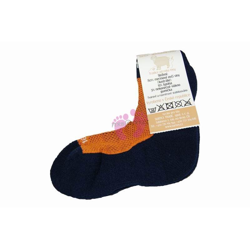 Dětské 80% merino ponožky Surtex, oranžové