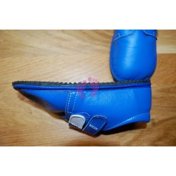 Beda boty barefoot modré kožené
