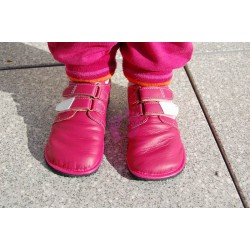 Beda boty - barefoot červené kožené