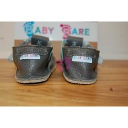 Baby Bare Shoes Blue Beetle Top Stitch zezadu