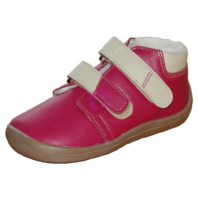Janette - zimní Beda-boty barefoot, růžové